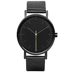 Herr / Damers / Par / Unisex Modeklocka / Armbandsur Quartz / Läder Band Fritid Svart / Brun Stämpla