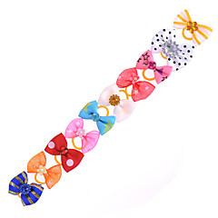 Cat / Dog Hair Accessories / Hair Bow Multicolor Bowknot Cute 20pcs