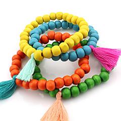 Strand Bracelets 1pc,Red / Blue / Orange / Green Bracelet Fashionable Circle 514 Wood Jewellery