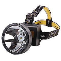 תאורה פנסי ראש LED 2000lumens Lumens 2 מצב 18650 עמיד למים / ניתן לטעינה מחדשמחנאות/צעידות/טיולי מערות / רכיבה על אופניים / ציד / דיג /