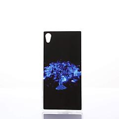 Mert Sony tok / Xperia Z5 Ütésálló / Porálló / IMD Case Hátlap Case Fa Puha TPU mert Sony Sony Xperia Z5