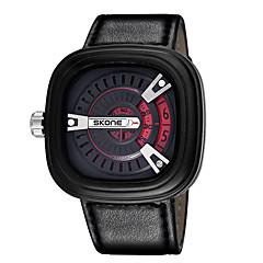 Heren / Dames Modieus horloge Japanse quartz Kalender / Waterbestendig PU Band Vrijetijdsschoenen Zwart Merk