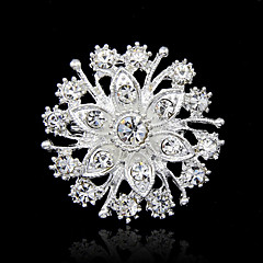 Women's Brooches Fashion Rhinestone Silver Jewelry For Party Special Occasion Birthday Gift Daily