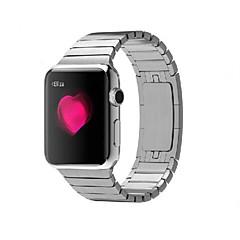 Horloge band voor appel horloge 38mm 42mm roestvrij stalen armband vlinder gesp met connector