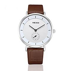 KEZZI® simple fashion style coffe color quarrz couple watch1080K