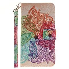Για Θήκη LG Θήκη καρτών / Πορτοφόλι / με βάση στήριξης / Ανοιγόμενη / Με σχέδια tok Πλήρης κάλυψη tok Λουλούδι Σκληρή Συνθετικό δέρμα LG