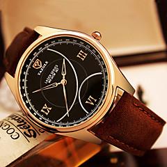 YAZOLE Men's Fashion Watch Wrist watch / Quartz PU Band Cool Casual Black Brown
