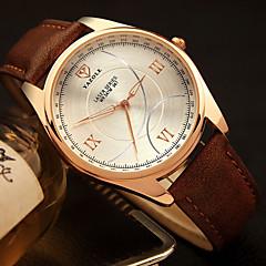 YAZOLE Men's Dress Watch Wrist watch / Quartz PU Band Casual Black Brown