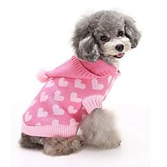 Macskák Kutyák Pulóverek Kapucnis felsőrész Kutyaruházat Tél Szívek Aranyos Divat Melegen tartani Kék Rózsaszín