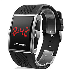 Men's Watch Red LED Calendar Silicone Strap Sport Watch Wrist Watch Cool Watch Unique Watch