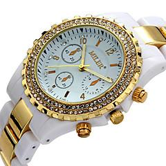 Męskie Damskie Dla par Uniseks Modny Zegarek na nadgarstek Na codzień Sztuczny Diamant Zegarek Kwarcowy / sztuczna Diament Ceramiczny