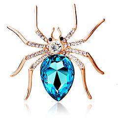 damesmode persoonlijkheid schattig grote spin broche kristal diamant prachtige broche sieraden gift