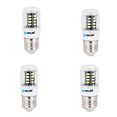4 pcs E14 / G9 / GU10 / E26/E27 / B22 LED Corn Lights 30 SMD 5733 450 lm Warm White / Cool White AC 220-240 V