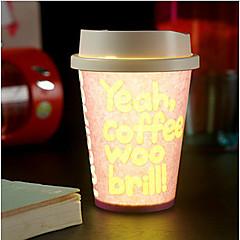 1 stk tilfeldig farge kreativ pub KTV miljø dixie cup LED lampe nattlys ledet drinkware