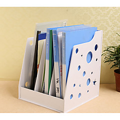 The Wooden Frame File Desktop Office Products Storage Box Finishing Hollow Carved White Newspaper Stand