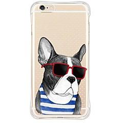 Glass Dog TPU Soft Back Shockproof/Dustproof/Waterproof/Transparent Cover For i6s Plus/6 Plus/6s/6/SE/5S/5