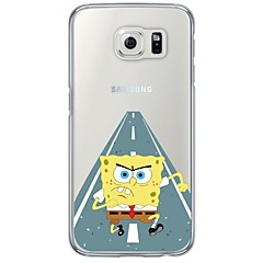 Angry SpongeBob Pattern Soft Ultra-thin TPU Back Cover For Samsung GalaxyS7 edge/S7/S6 edge/S6 edge plus/S6/S5/S4