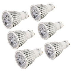 5W GU10 Spot LED MR16 5 LED Haute Puissance 500 lm Blanc Froid Décorative AC 85-265 V 6 pièces