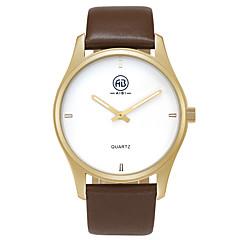 Herren Modeuhr / Armbanduhr Quartz Wasserdicht / leuchtend Echtes Leder Band Vintage / Bequem Braun Marke