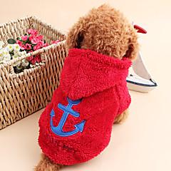 Gatos / Perros Saco y Capucha Rojo / Azul / Blanco / Gris / Rosa Ropa para Perro Invierno / Primavera/Otoño MarineroAdorable / Mantiene