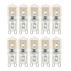 Ywxlight® 10 pcs dimmable 4w g9 luzes led 14 smd 2835 300-400lm quente / natural / cool branco ac 220 / 110v