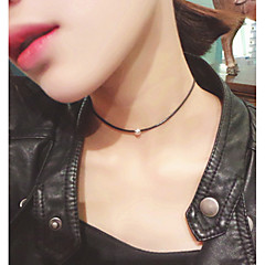 Necklace Choker Necklaces Jewelry Wedding / Party / Daily Fashionable / Adorable / Personality Alloy Black-White 1pc Gift