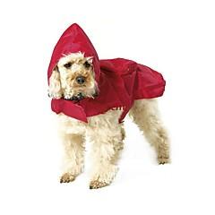 katten honden Regenjas Hondenkleding Zomer Lente/Herfst Effen Waterdicht Zwart Rood Blauw
