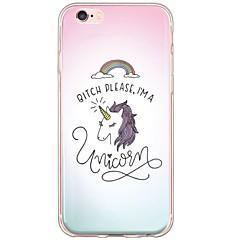 Unicorn Pattern TPU Ultra-thin Translucent Soft Back Cover for Apple iPhone 6s Plus/6 Plus/ 6s/6/ SE/5s/5