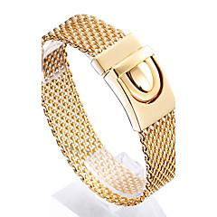 Bărbați Brățări cu Lanț & Legături La modă costum de bijuterii Teak Placat Auriu 18K de aur Geometric Shape Bijuterii Pentru Cadouri de