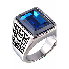 Men's Agate / Gem / Titanium Steel Ring Vintage Party / Daily / Casual 1pc Statement Rings