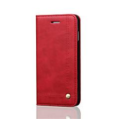 Kompatibilitás iPhone 8 iPhone 8 Plus iPhone 6 iPhone 6 Plus tokok Kártyatartó Pénztárca Ütésálló Állvánnyal Flip Mágneses Teljes védelem