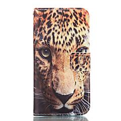Για Samsung Galaxy Θήκη Πορτοφόλι / Θήκη καρτών / με βάση στήριξης tok Πλήρης κάλυψη tok Λεοπάρ Μαλακή Συνθετικό δέρμα SamsungA7(2016) /