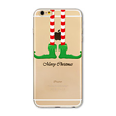 Back Cover Translucent Christmas stockings TPU Soft Case Cover For Apple iPhone 7 7 Plus iPhone 6 6 Plus iPhone 5