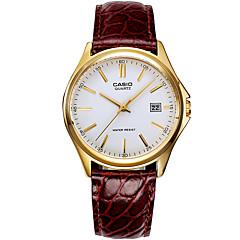 Erkek Elbise Saat Moda Saat Quartz / Deri Bant Günlük Lüks Siyah Kırmızı Beyaz/Bej