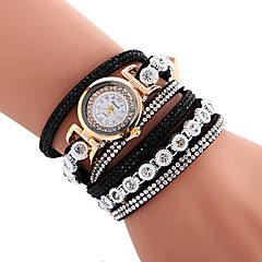 Women's Quartz Casual Fashion New Watch Leather Belt Bracelet Round Alloy Dial Watch Cool Watch Unique Watch