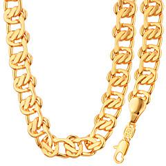 Heren Dames Voor Stel Sieraden Set Ketting / armband Modieus Kostuum juwelen Platina Verguld Verguld Kettingen Armband Voor Bruiloft
