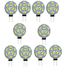 10PCS G4 9LED SMD5730 400-450LM Warm White/White Decorative DC12V LED Bi-pin Lights
