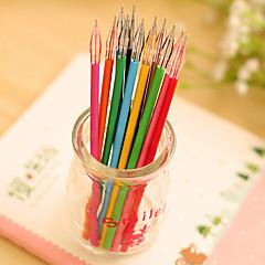 Gel Pen Długopis Wkłady Długopis,Plastik Beczka Czerwony Czarny Niebieski Żółty Fioletowe Złoty Pomarańczowy Zielony Losowe kolory