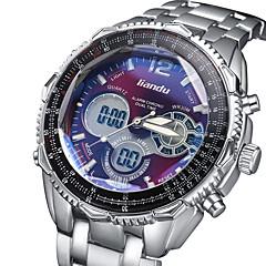 Men's Fashion Watch Waterproof LED Sports Electronic Noctilucent Luxury Brand Watch Shock Resistant Calendar Stainless Steel Digital Wrist Watch