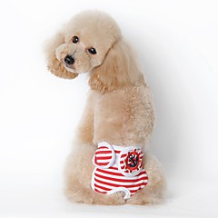 Perros Pantalones Ropa para Perro Verano Primavera/Otoño Marinero Casual/Diario Negro Rojo Azul