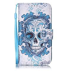 Kompatibilitás iPhone 8 iPhone 8 Plus tokok Pénztárca Kártyatartó Teljes védelem Case Koponya Kemény Műbőr Bőr mert Apple iPhone 8 Plus