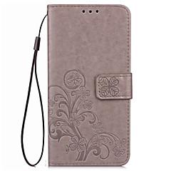 For Mi etui Pung Kortholder Med stativ Præget Etui Heldækkende Etui Blomst Hårdt Kunstlæder for XiaomiXiaomi Mi Max Xiaomi Redmi 2 Xiaomi