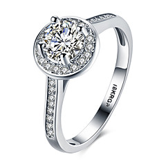 Band Rings Platinum Sterling Silver Zircon Cubic Zirconia 18K gold Fashion Vintage Personalized Hypoallergenic Silver JewelryWedding