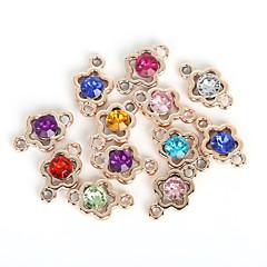 beadia 20st diverse kleuren 15x24mm bloemvorm acryl plastic strass charme hanger& bevindingen connector