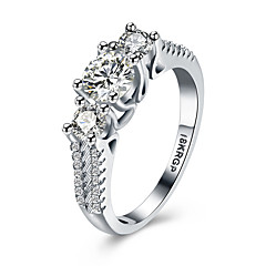 lureme Chic 18kRPG Cubic Zirconia Weddinng Engagement Ring