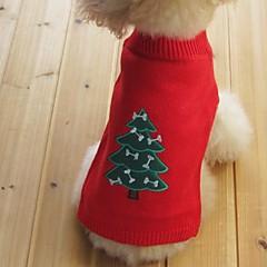 Kissat Koirat Neulepaidat Koiran vaatteet Talvi 봄/Syksy Lumihiutale Pidä Lämmin Joulu Uusivuosi Musta Keltainen Punainen Sininen