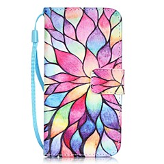 Mert iPhone 7 tok / iPhone 7 Plus tok / iPhone 6 tok Kártyatartó / Minta Case Teljes védelem Case Virág Kemény Műbőr AppleiPhone 7 Plus /