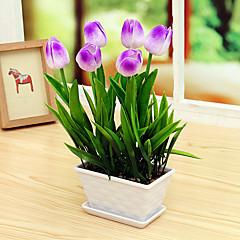 Set of 1 PCS 1 haara PU Tulppaanit Pöytäkukka Keinotekoinen Flowers 13.3