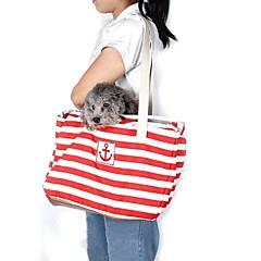 Gato / Cachorro Tranportadoras e Malas / Mini Mensageiro Animais de Estimação Transportadores Portátil Vermelho / Azul Tecido