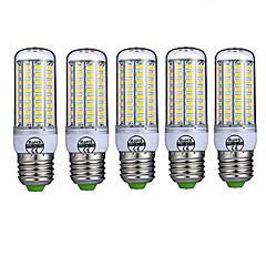 5pcs 72LED E27 LED Corn Lights 5730 LED Cool Warm White Lights Lamp Bulb(AC220-240V)